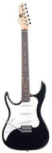 AXL Headliner Double Cutaway Left Hand Electric Guitar, Black