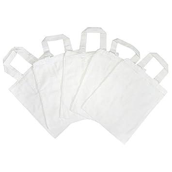 5 bolsas en algodón de color blanco para decorar o pintar 38 ...