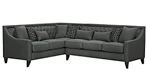 Zikra L Shape Five Seater Sofa (Grey)