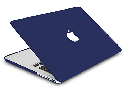"KECC Laptop Case for MacBook Air 13"" w/Keyboard Cover Plastic Hard Shell Case A1466/A1369 2 in 1 Bundle (Matte Navy)"