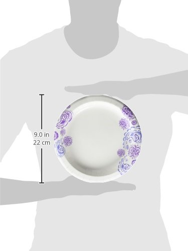 Dixie Everyday Paper Plates, 8 1/2'', 480 Count, 10 Packs of 48 Plates, Lunch or Light Dinner Size Printed Disposable Plates by Dixie (Image #4)