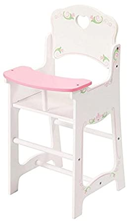 8b5fe6f03232 Image Unavailable. Image not available for. Colour  Dolls White Wooden High  Chair ...