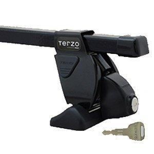 テルッツォ(TERZO) システムキャリアセット TOYOTA カローラフィールダー H18.10~ NZE.ZRE14# ルーフレール無車 [フット:EF14BL+バー:EB2+取付ホルダーEH358] B00KG5XN62