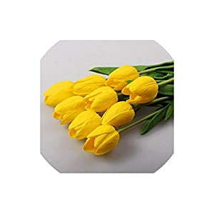 Artificial Tulips 30Pcs/Lot Mini Tulip with Leaves Flower Bouquets Home Wedding Decoration,10 109