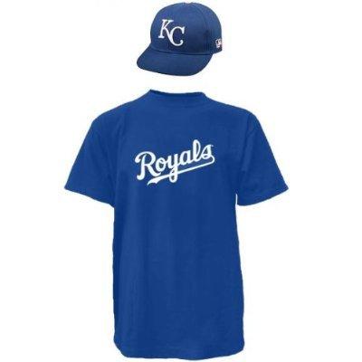 Kansas City Royals CAP & YOUTH MEDIUM JERSEY MLB Licensed Replica Combo (Royal Youth Mlb Replica Jersey)