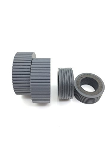 - OKLILI PA03540-0001 PA03540-0002 Brake Roller Pick Roller Pickup Roller Tire Rubber for Fujitsu fi-6240Z fi-6140Z fi-6230Z fi-6130Z fi-6240 fi-6140 fi-6230 fi-6130 fi-6125 fi-6225 iX500 ix1500