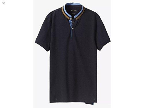 MASSIMO DUTTI POLO SHIRT, Men's Mao Collar Polo, Size: Medium