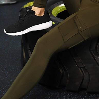 ZZHU 2019 Pantalons Leggings de Yoga /étroits et /écologiques en Bambou avec Poches