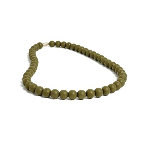 Chewbeads Silicone Rubber Necklace in Military Green by Chewbeads   B004GIKRRI