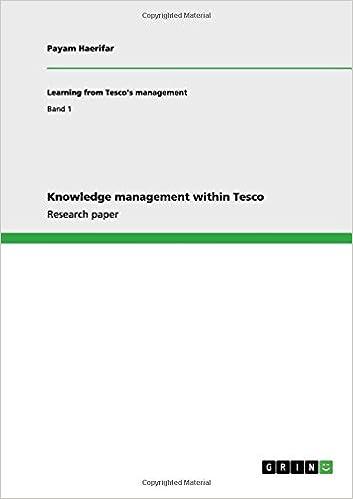 Lehrbücher online herunterladen Knowledge management within Tesco PDF FB2 iBook 3656110662 by Payam Haerifar