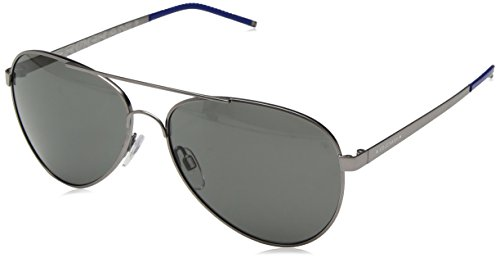 Cole Haan Men's Ch6020 Metal Aviator Sunglasses, Navy, 59 - Sunglasses Aviator Haan Cole