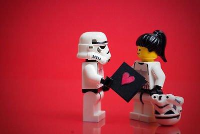 sdore Lego Star Wars Tarjeta de Love comestible 1/2 media ...
