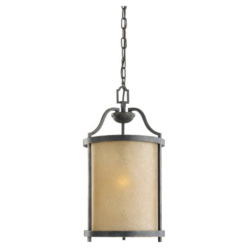 Sea Gull Lighting 51520-845 Pendant with Creme Parchment Glass Shades, Flemish Bronze Finish by Sea Gull Lighting