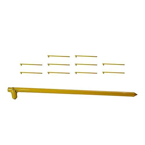 Monk Industries 5/8 Inch x 18 Inch hot Forged Yellow Tent Stake 10 Pack by Monk Industries