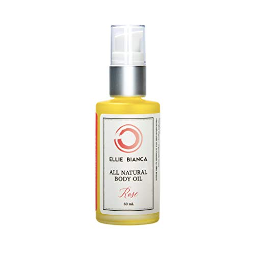 Ellie Bianca Rose Body Oil | Invigorating yet Soothing Floral Fragrance with the Ultra-Hydrating Skin Care Benefits of our Soft, Smooth Oil Blend | Massage and Cuticle Oil for Face, -