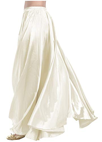 Indian Trendy Women's Satin Full Circle Swing Halloween Belly Dance Tribal Skirt One Size: 36