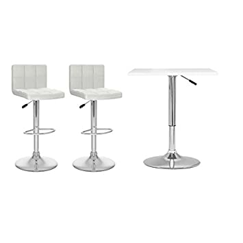 Awe Inspiring Amazon Com Home Square Adjustable Height Bar Table And Two Gamerscity Chair Design For Home Gamerscityorg