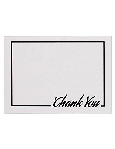 5 Value Pack (40 Pack Thank You Cards 5x7 Inches Blank Inside 42 Envelopes)
