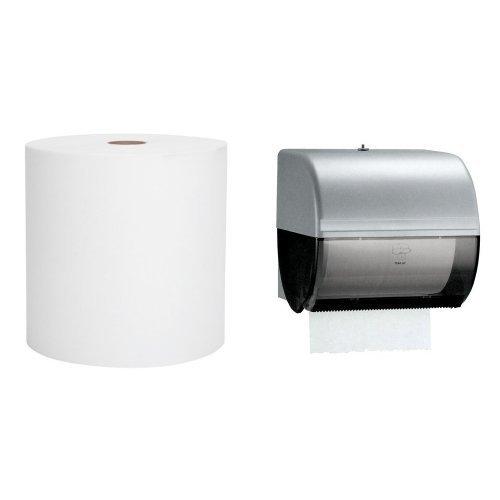 Kimberly-Clark IN-SIGHT Omni Roll Towel Dispenser With 6-Pack Scott Hard Roll Towel Refill Bundle