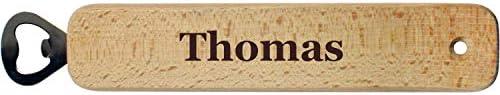 Flaschenöffner aus Holz mit Gravur - mit Name oder Spruch - Kapselöffner als Geschenk für Freunde, Geburtstag, Männergeschenk, Bieröffner - XXL Extra Groß