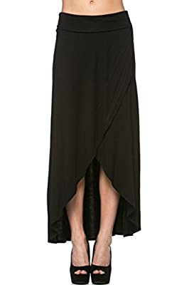 Azules Women's High Low Hem Maxi Skirt