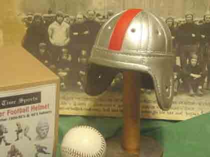 Past Time Sports Mini Ohio State Leather Football Helmet ...