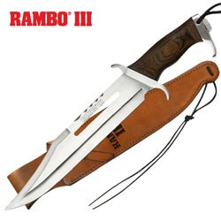 Officially Licensed RAMBO III MC-RB3 Officially Licensed Hunting Knife 18-Inch Overall, Outdoor Stuffs