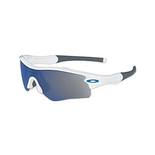 Oakley - Radar Path - Polished White Baseball Stem Frame-Ice Iridium Lenses (Oakley Ice Iridium compare prices)