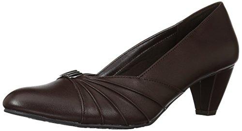 Soft Style by Hush Puppies Women's Dee Dress Pump, Dark Brown, 8.5 W US (Dark Brown Women Dress Shoes)