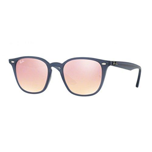 Ray-Ban RB4258F Sunglasses Shiny Opal Dark Azure / Pink Flash Copper - Ray Bans Pink