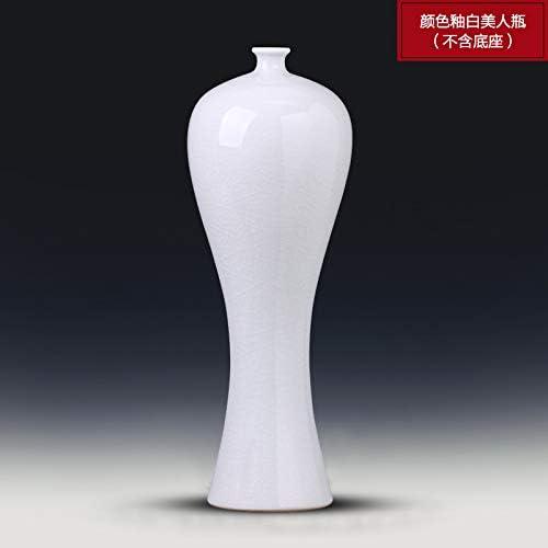 suxiaopei Jingdezhen Cerámica Botella de Cerdos Jarrón Blanco Antiguo Hogar Sala de Estar arreglada Flor Televisor Gabinete de Vino Adornos Color Esmalte Botella de Belleza Blanca 11 x 30 cm: Amazon.es: Hogar