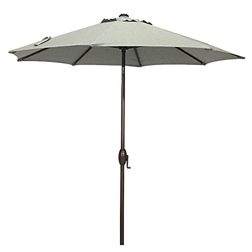 Abba Patio Sunbrella Patio Umbrella 9 Feet Outdoor Market Table Umbrella with Auto Tilt and Crank, Canvas Granite - Granite Patio Table