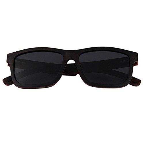 Alta Gray Sol Gafas True Mano De Hechas Square Gafas Film Huecas Brown De QQB Polarizer De Madera A Gama SUvvqg