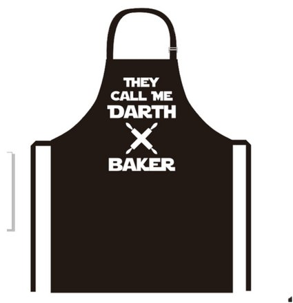 new creative darth baker apron kitchen cooking baking bbq apron for men and women  bring your dinner party to life with our novelty funny cooking apron by Positive Products Ireland