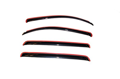 Auto Ventshade 194309 In-Channel Ventvisor Window Deflector for Extended Crew Cab Pickups, 4 Piece