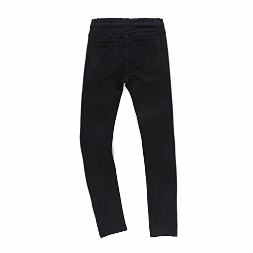 Collants Zipper Pantalon Fit Skinny Vintage Femmes Jeggings Jeans Slim Crayon Denim WanYang Pants Noir Dcoration Stretch WH1IUnxx