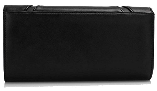 Black Gorgeous DELIVERY FREE Flapover UK Purse Flapover Gorgeous Black Clutch CwxAWPUq4A