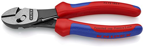 73 72 180 F High Performance Diagonal Cutters ''Twinforce'' with Soft Handle & Opening Spring by KNIPEX Tools