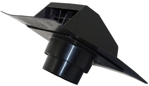 4-Inch to 5-Inch Diameter Roof Cap Dryer Exhaust Hood with Collar, Black