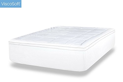 Viscosoft 4 Inch Queen Luxury Dual Layer Gel Infused Memory Foam Mattress Topper Includes Quilted Down Alternative Pillow Top Cover Made In Usa Simplythecase