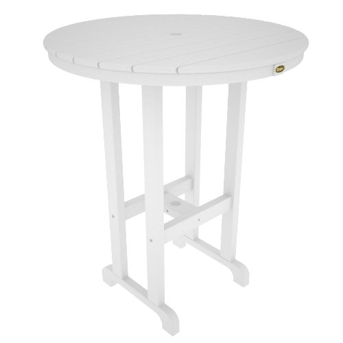 Trex Outdoor Monterey Bay Round Bar Table Color: Classic White, Table Size: 36'' by Trex Outdoor
