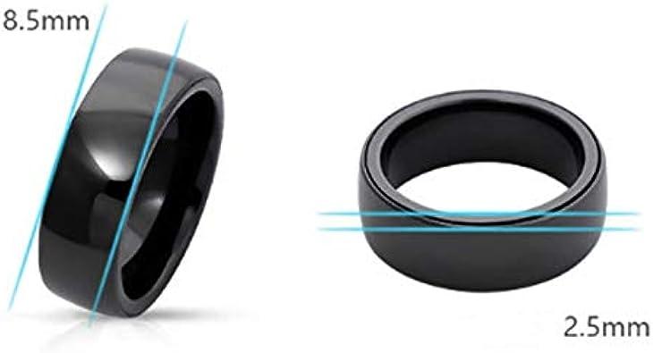 13.56MHZ RFID Cer/áMica Negra Desgaste del Anillo de Dedo Inteligente ID IC Control de Acceso de Doble Chip Anillo Inteligente Tarjeta de Acceso Replicable Llavero Naliovker 125KHZ