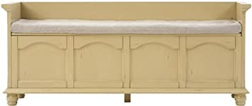 Harwick 60u0026quot;w Lift Top Storage Bench With Fabric Seat, ...