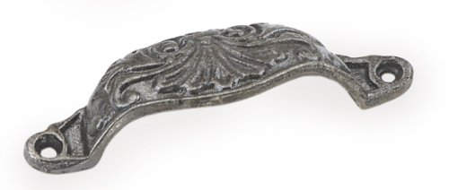 Laurey 58306 96Mm Classico Hammered Cup Pull, Antique Pewter