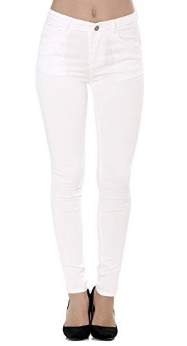 Slim Skinny Pantaloni A Nina Da Jeans Stretch Denim 42 Carter Skinny Bianco 34 Donna ftIRxwXR