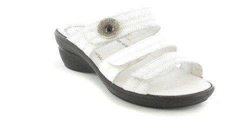 ROMIKA sALE-femme-blanc-pantolette chaussures matelas grande taille
