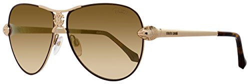 Roberto Cavalli Designer Sunglasses , Gold/Brown Mirror, - Sunglasses Roberto Aviator Cavalli