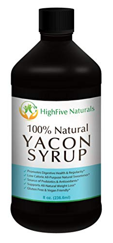 Raw Yacon Syrup Premium – 100 Natural Weight Loss Whole Food – Promotes Digestive Health Regularity – Low Glycemic Diet – Gluten Free, Super Healthy Sugar Substitute – Metabolism Booster – Appetite Suppressant – Probiotic Prebiotic and Antioxidant – Low-Calorie All-Natural Sweetener – No Preservatives or Additives, Vegan Diet – Your Satisfaction is Guaranteed LIMITED PROMO PRICE