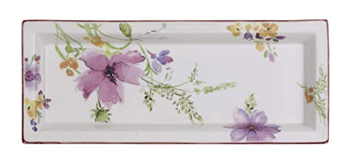 Villeroy & Boch Mariefleur Gifts Rectangular Bowl, Premium Porcelain, White/Colourful