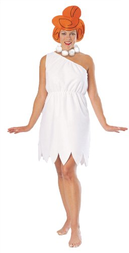 Rubies Womens Wilma Flintstone Anim Theme Party Fancy Halloween Cartoon Costume, L (14-16)]()